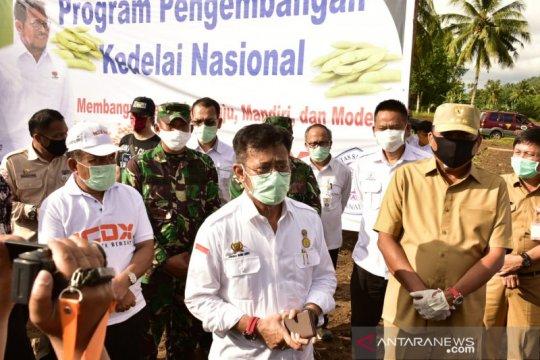 Mentan dan Gubernur Sulut tanam kedelai kurangi ketergantungan impor