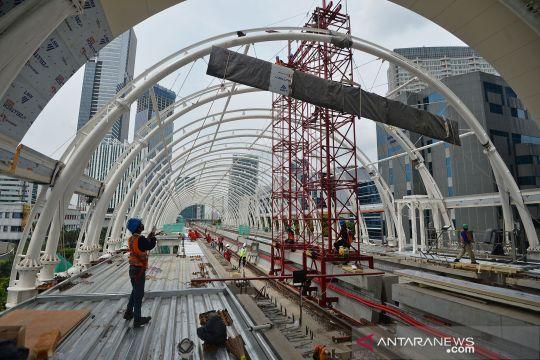 Proyek pembangunan LRT tetap berjalan
