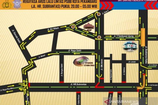 Polresta Pekanbaru perluas penutupan jalan selama PSBB