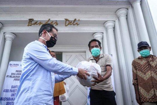 Pelindo 1 salurkan bantuan 4.000 paket sembako bagi masyarakat Belawan