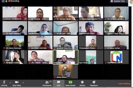 Peserta PKN-LAN kunjungan virtual ke Desa Wisata Lerep Semarang