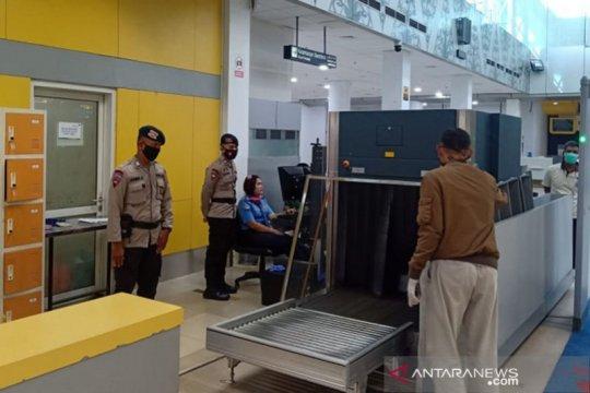 Brimob Polda Jambi bantu pengamanan di Bandara Sultan Thaha