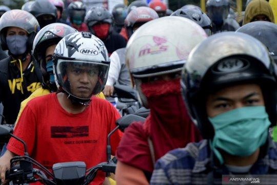 Hari pertama penerapan PSBB di Makassar