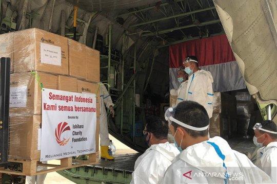 140 ribu APD donasi Yayasan Ishihara tiba di Jakarta Sabtu