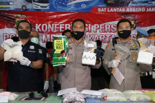 Polrestro Jakarta Pusat sita 11 kilogram sabu dan 30.000 butir ekstasi