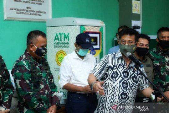 Kunjungi Kodim Depok, Mentan pastikan bantuan lewat ATM Beras berjalan