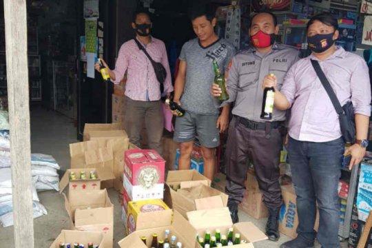 Polres Indramayu sita ratusan botol minuman keras