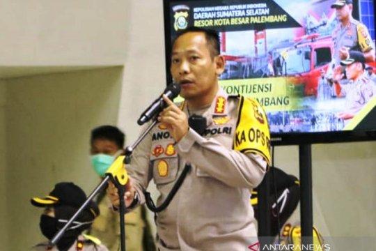 Polrestabes Palembang tindak tegas warga tidak pakai masker