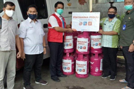 Pertamina salurkan puluhan tabung elpiji untuk dapur umum PSBB