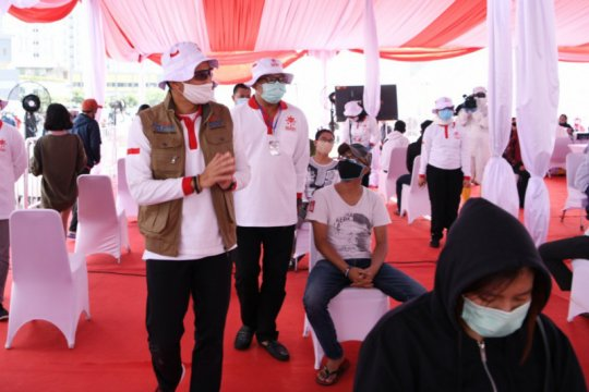Rapid test yang digelar relawan Sandiaga nyatakan 28 orang reaktif