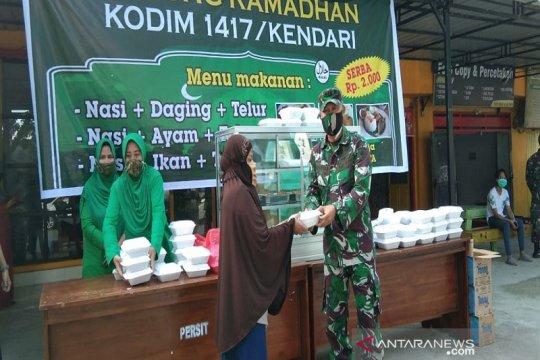 Kodim 1417 Kendari buka Warung Ramadhan serba Rp2000