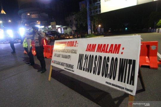 Penutupan jalan di Kota Banjarmasin