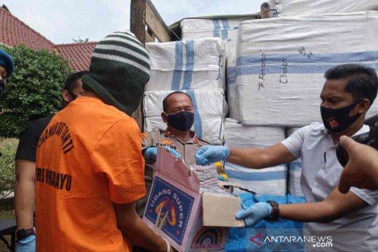 Polres Indramayu gagalkan peredaran 5 juta butir petasan