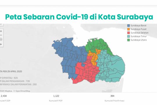48 kelurahan di Surabaya nol kasus positif COVID-19
