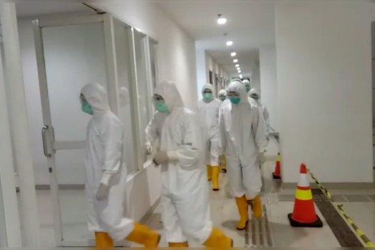 TNI bantu proses disinfeksi Rumah Sakit Darurat COVID-19 Wisma Atlet