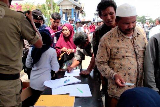 Ratusan warga Lhokseumawe terjaring razia masker