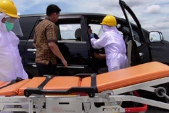 Simulasi penanganan COVID-19 di Tol Trans Sumatera