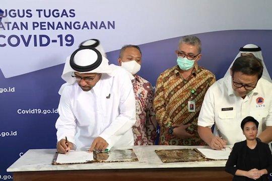 20 ton bantuan alat medis dari UEA tiba di Indonesia