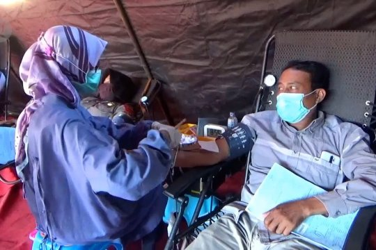 Atasikrisis darah,Polres Jember gelar donor darah
