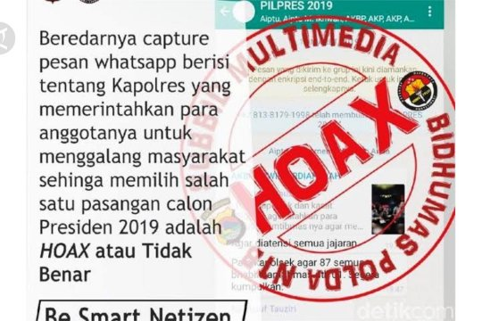 Cyber Crime Polri tangani 72 kasus hoaks COVID-19