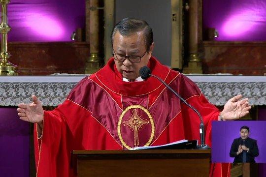 Kardinal doakan pasien COVID-19 dan tim medis pada Jumat Agung