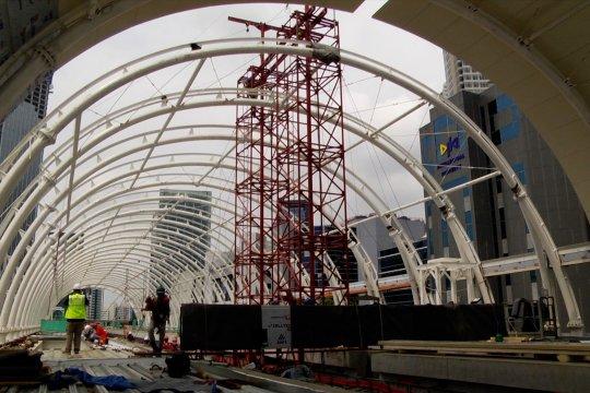 Progres proyek LRT Jabodebek capai 72 persen