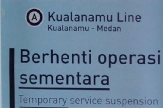 Railink setop KA Bandara Kualanamu hingga 31 Mei