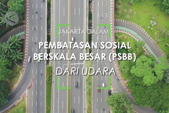 Jakarta dalam Pembatasan Sosial Berskala Besar dari udara