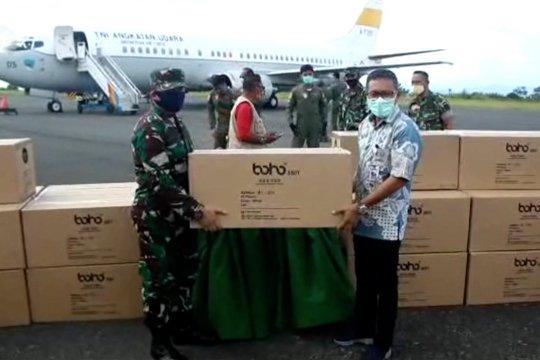 Pesawat TNI AU angkut bantuan APD dari pusat tiba di Maluku Utara