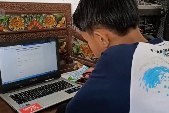 Ujian daring SD Pangkalpinang
