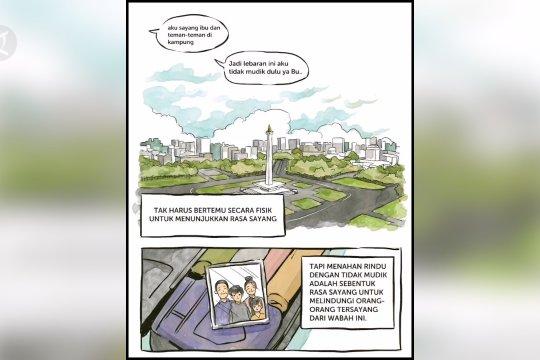Presiden Jokowi keluarkan imbauan tidak mudik lewat komik