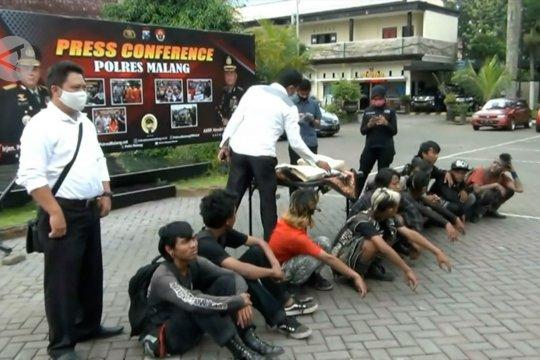 10 terduga pelaku vandalisme di Malang diamankan