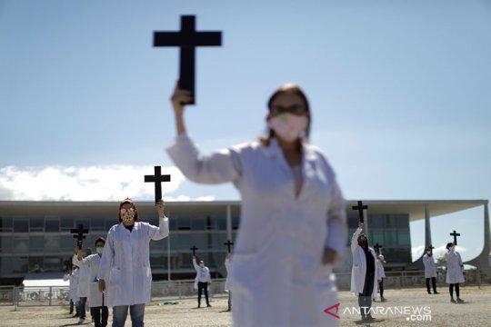 Total kasus virus corona di Brazil menjadi lebih dari 100 ribu