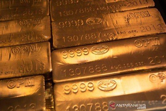 """Emas jatuh 9,7 dolar, aksi jual berlanjut saat """"greenback"""" menguat"""