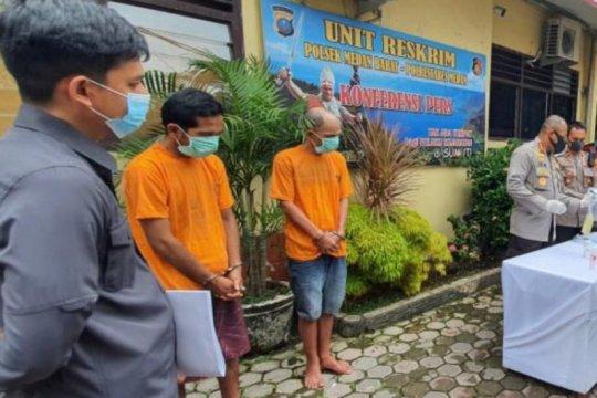 Polrestabes Medan ringkus pencuri pagar besi di Lapangan Merdeka