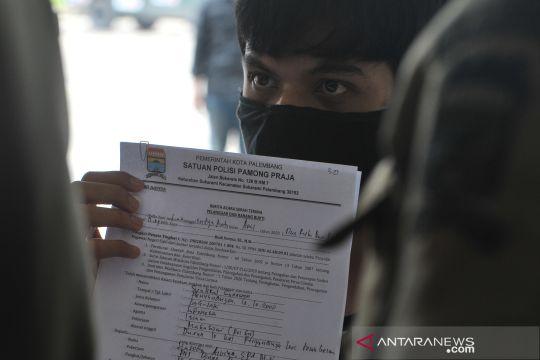 Keluyuran tanpa kenakan masker, 32 warga diamankan di Palembang