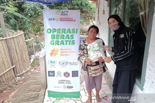 ACT Lampung fokus salurkan beras gratis ke pemukiman warga