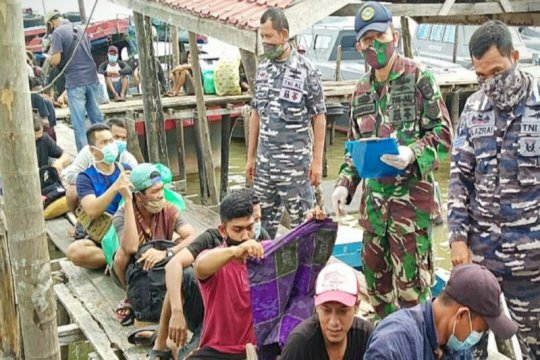 Lanal Tanjung Balai Asahan amankan 27 TKI Ilegal