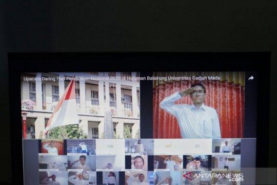 UGM menggelar upacara Hardiknas secara virtual