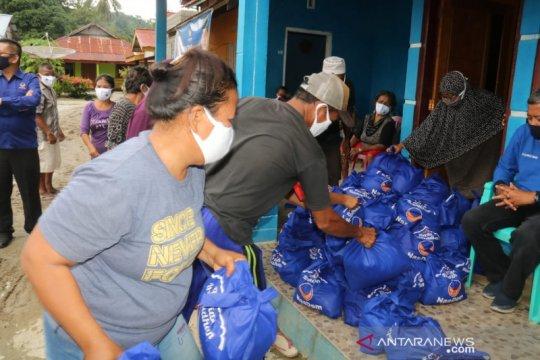 1.500 paket pangan disalurkan NasDem kepada korban banjir Poso