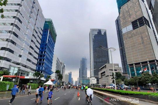 Pagi cerah berawan sambut warga Jakarta Minggu pertama PSBB transisi
