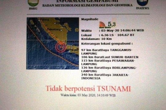 BMKG tegaskan gempa di Selat Sunda tak berpotensi tsunami