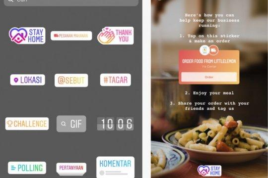"""Stiker """"Pesanan Makanan"""" dan pelatihan bisnis gratis dari Instagram"""
