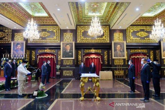 Menhan Prabowo lantik Marsda Donny Ermawan jadi Sekjen Kemhan