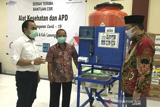 SIG salurkan bantuan alat kesehatan Rp750 juta ke Gresik dan Lamongan
