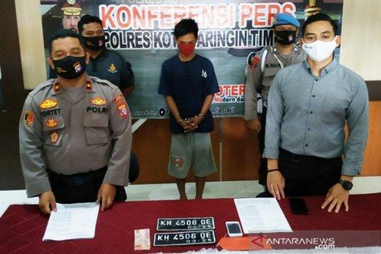 Baru bebas, seorang warga Sampit kembali mencuri sepeda motor