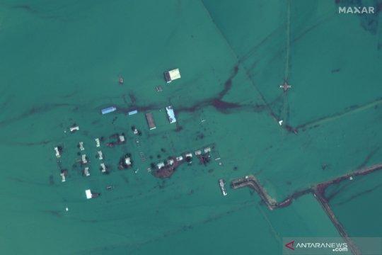 Citra satelit banjir akibat jebolnya dam di Uzbekistan