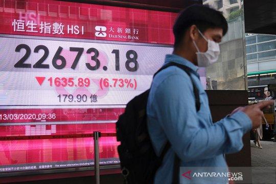 Saham Hong Kong jatuh saat indeks komposit China tergelincir