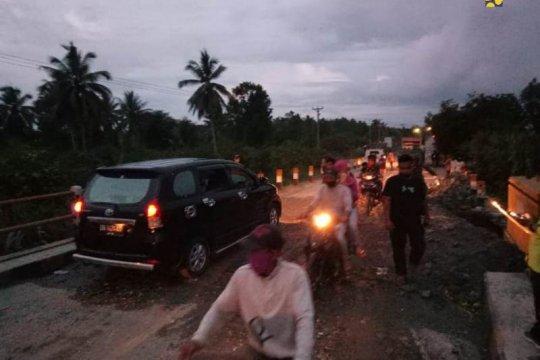 PUPR lakukan penanganan darurat Jembatan Samalera yang tergerus banjir