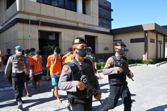 Satreskrim Polresta Sidoarjo Jatim tangkap komplotan begal motor